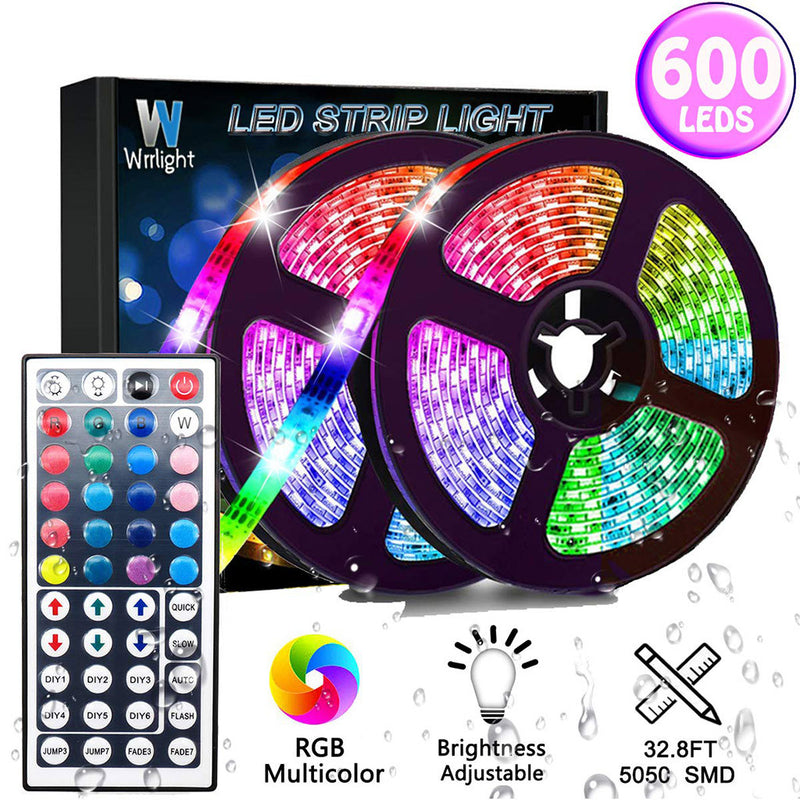 10-Meter Waterproof Flexible Color Changing RGB SMD3528 600 LEDs Strip Light +Ne - Coeexus