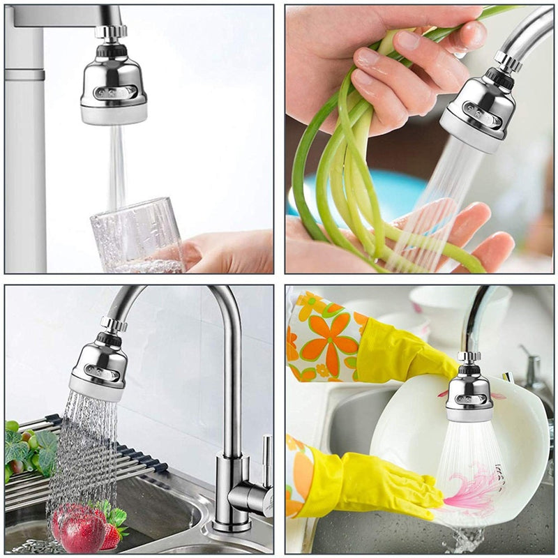 360 Degree Rotary Swivel Faucet Nozzle Anti-splash Water Filter Adapter Shower Head Bubbler Saver Tap Bathroom Kitchen Tools