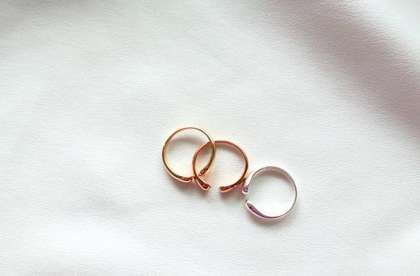 [92.5 Silver] Open Pinky Ring -holiholic.com