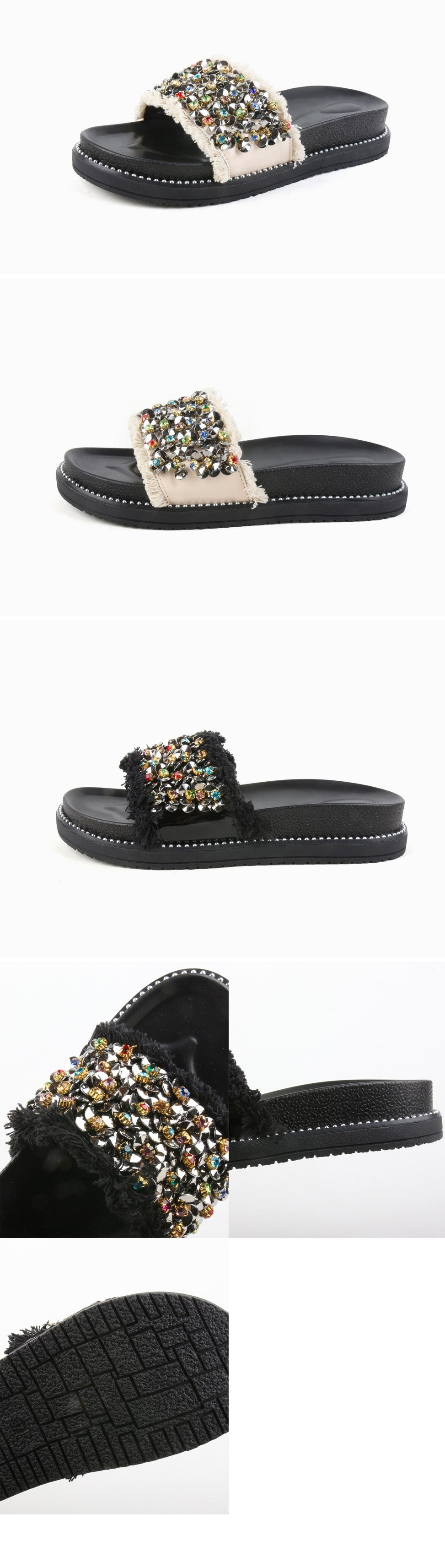 Simple but Unique Beads Slippers-holiholic.com