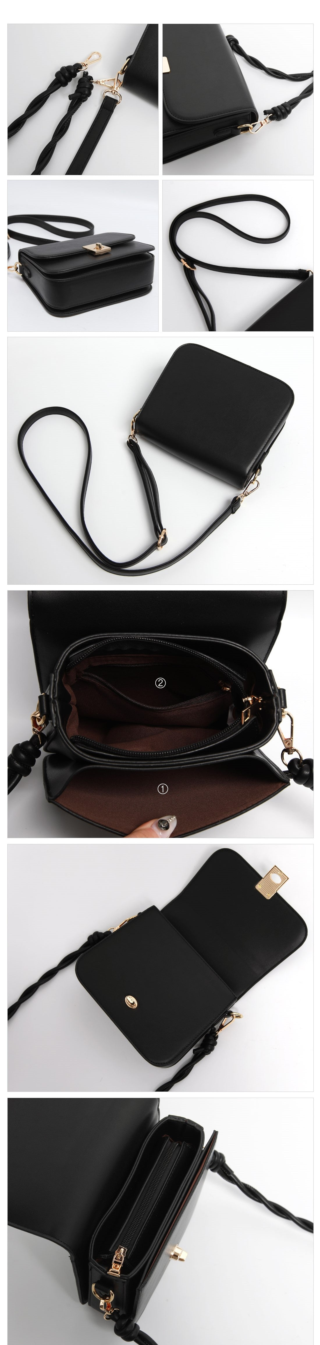 Solid Bag with Twist Strap- Holiholic