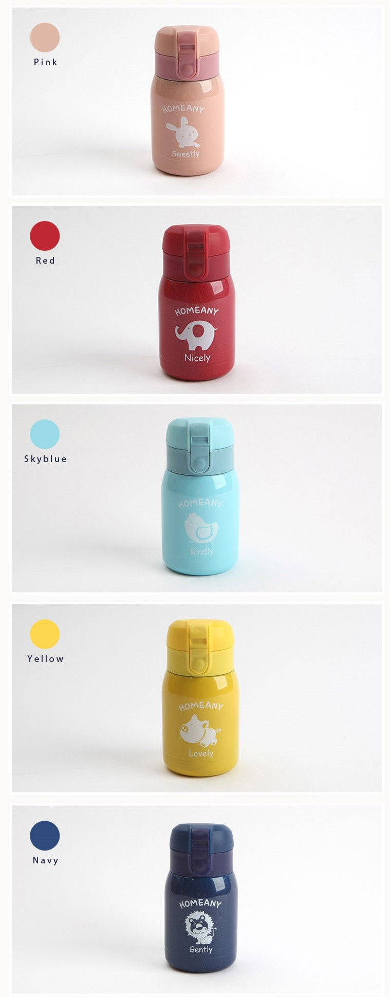HOMEANY Vacuum Insulated Water Bottle 200ml-holiholic.com