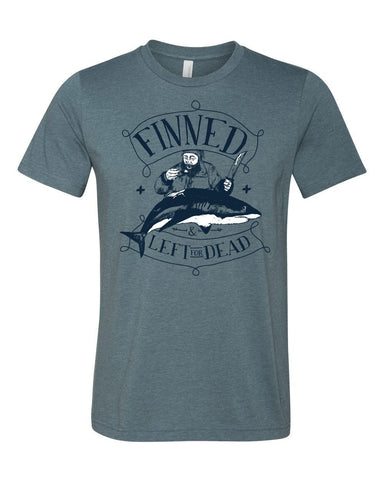 T-Shirts - FINNED & LEFT FOR DEAD PIRATE Jersey T Shirt