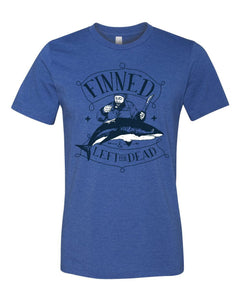FINNED & LEFT FOR DEAD PIRATE Jersey T Shirt