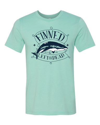 T-Shirts - FINNED SHARK Jersey T Shirt