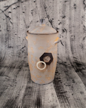 Fermenting Jar with White and Black Details