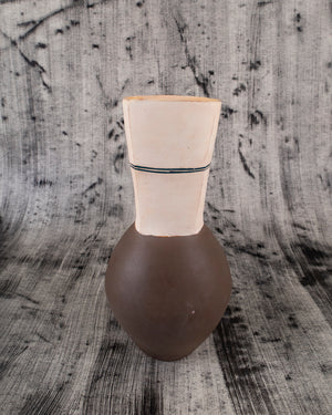 Compound Vase with Teal Stripe