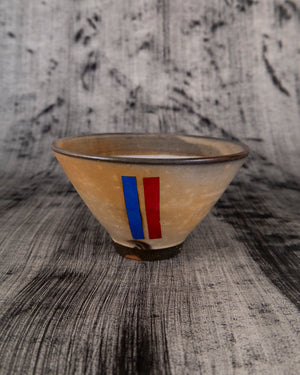 Bowl with Blue and Red Details