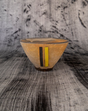 Bowl with Black and Yellow Rectangle