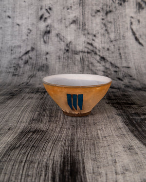 Side Bowl with Teal Pendents