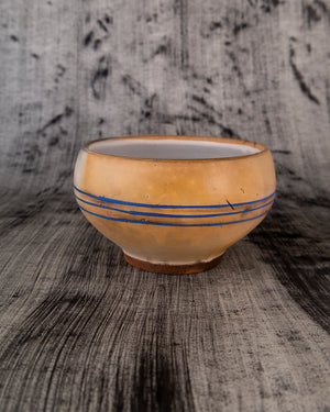 Soup Bowl with Blue Stripes