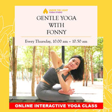 Load image into Gallery viewer, [Online] Gentle Yoga for beginners (50min) at 10.00am Thu on 2 Apr 2020 -finished