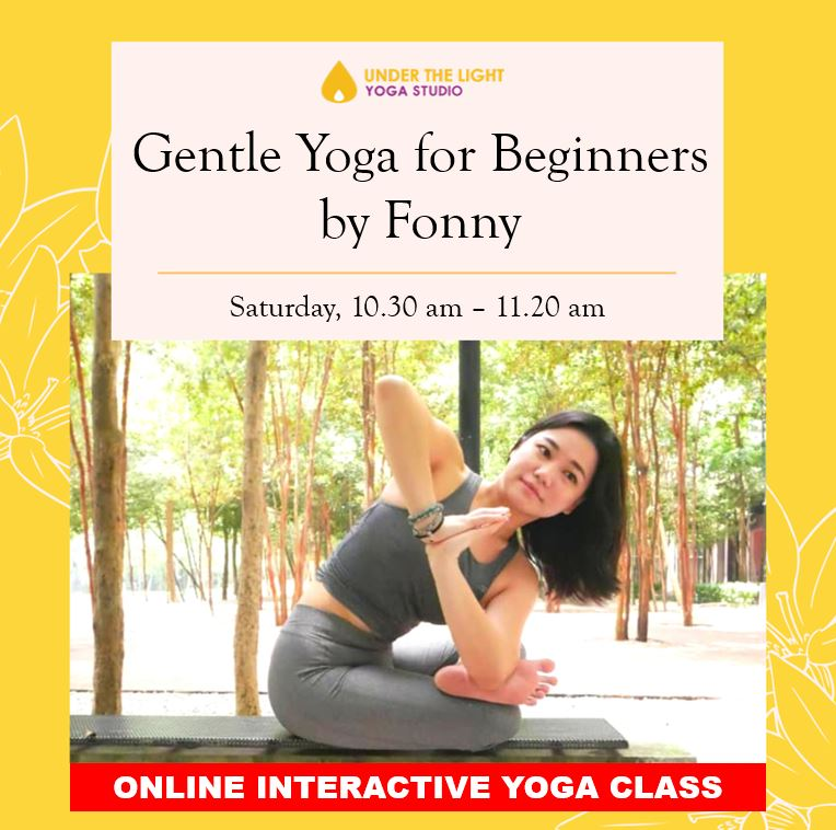[Online] Gentle Yoga for beginners (50 min) at 10.30am Sat on 25 Apr 2020 -finished