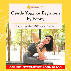 [Online] Gentle Yoga for beginners (50 min) at 10.00am Thu on 9 Apr 2020 -finished