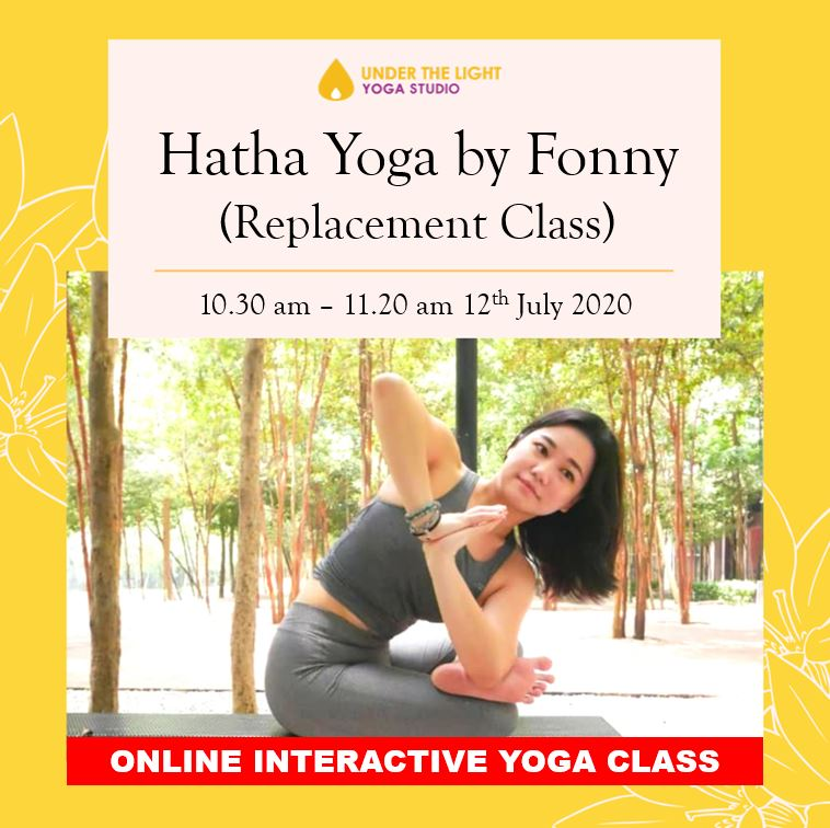 [Online] Hatha Yoga by Fonny (50 min) at 10.30am Sun on 12 July 2020 - finished