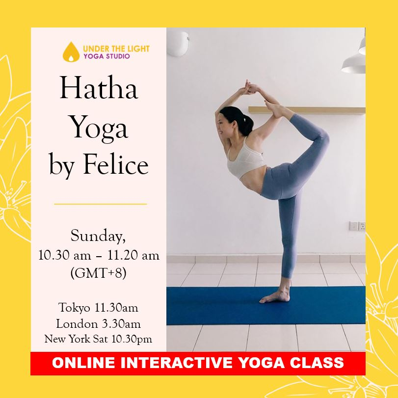 [Online] Hatha Yoga by Felice (50 min) at 10.30am Sun on 2 August 2020 - Finished