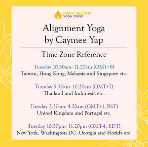 [Online] Alignment yoga by Caymee Yap (50 min) at 10.30am Tue on 2 June 2020 - finished