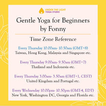 Load image into Gallery viewer, [Online] Gentle Yoga for beginners (50 min) at 10.00am Thu on 9 Apr 2020 -finished