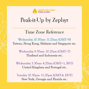 [Online] Peak-it-Up by Zephyr (50 min) at 10.30 am Wed on 26 August 2020 - finished