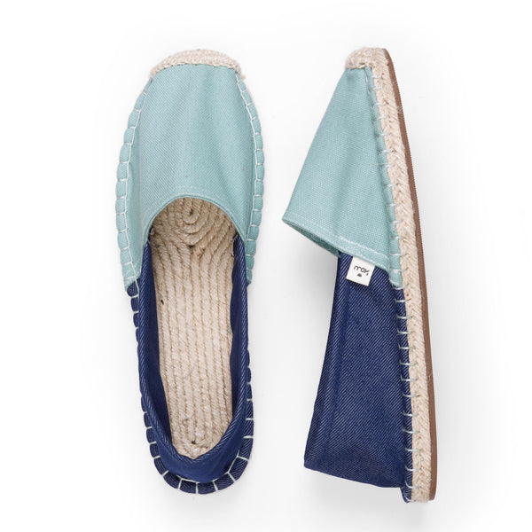 Women's Espadrilles - Duck Egg Blue - SATU