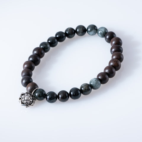 Eagle Eye + Wood Bracelet
