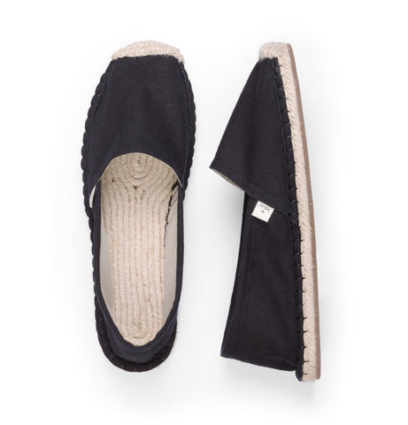 Men's Espadrilles - Jet Black - SATU