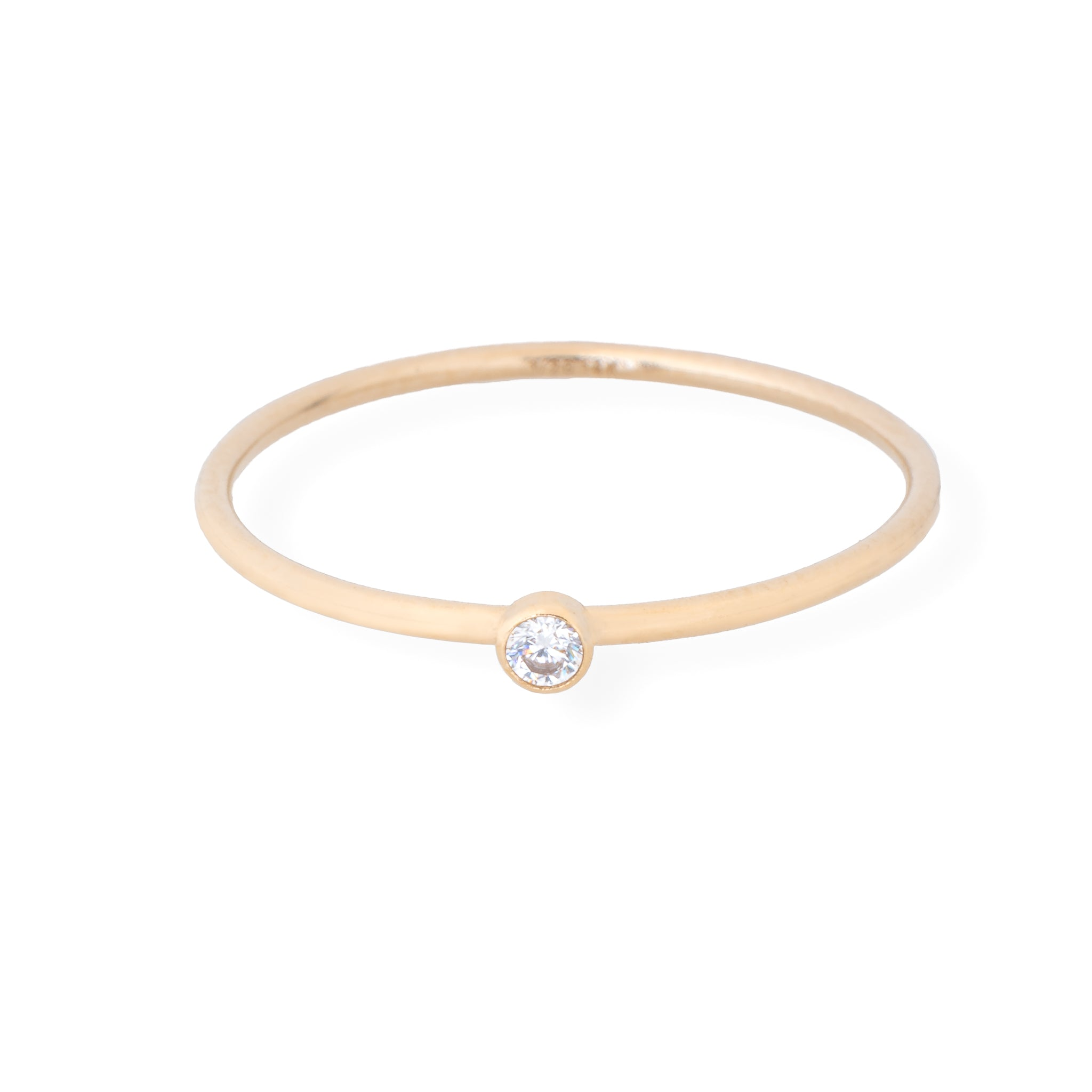 Tiny Diamond Stacking Ring