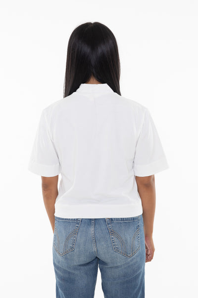 High Neck Crop T-Shirt - SATU