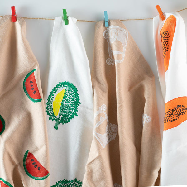 Tea Towels - Fruits of Cambodia