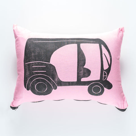Pink Tuk Tuk Cushion - SATU
