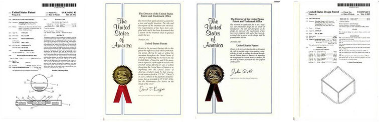 Screenshots and copies of the US patents
