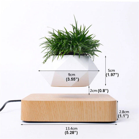 Floating Plant Pot dimensions in cm and inches