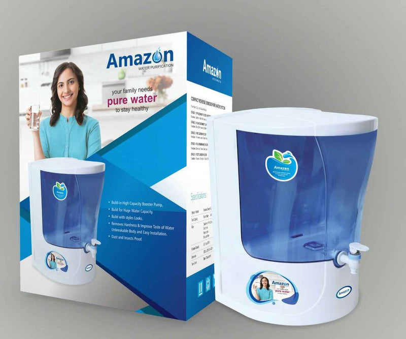 Amazon pure water fontaine eau Real H2o Water Purifire Amazon RO+UF+TDS Control 14 Stage New Technology - shoppingaumaroc