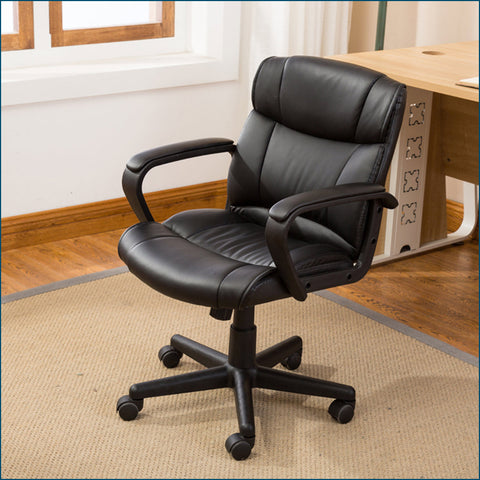 ErgoOffice - Leather Ergonomic Executive Computer Desk Office Chair