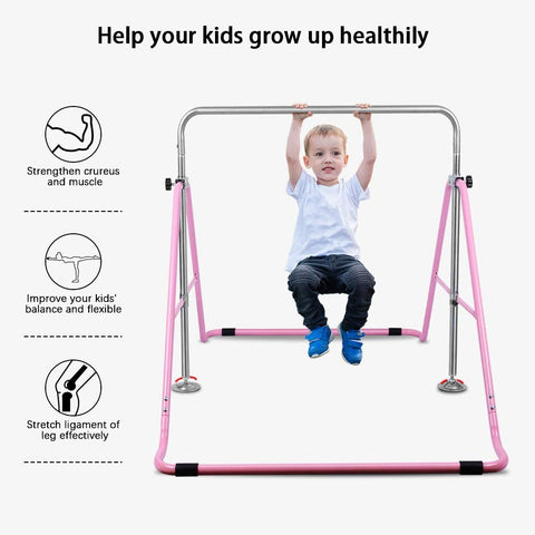 Gymverse Gymnastics Bars Kids Kip Training Bars with Adjustable Height