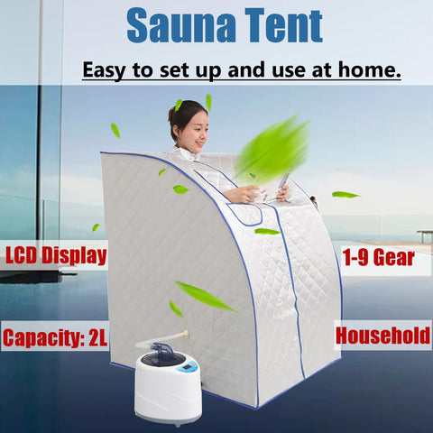 Gymverse Portable Sauna Home Spa Steam Generator for Weight Loss Detox