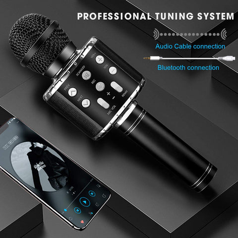 ShinePick - Wireless Bluetooth Karaoke Microphone with Record Function