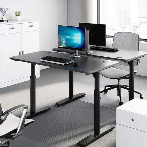 FurniBox Adjustable Computer Desk Writing PC Table with Free Mouse Pad