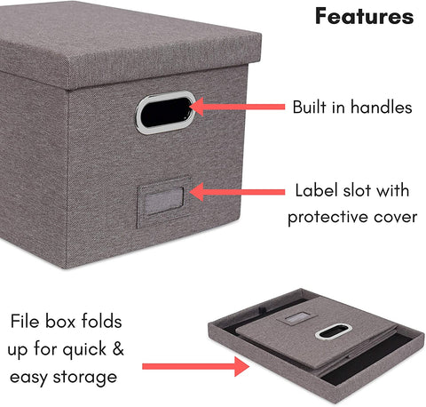 Officelux Collapsible Hanging File Folders Storage Organizer 2 Pack