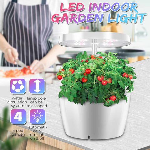 GreenThrive Hydroponic System Indoor Herb Garden Smart Grow Light Box