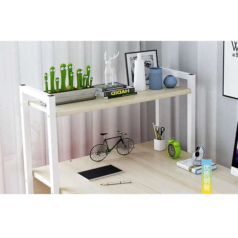 Officelux Computer Desk Laptop Table with 4 Tiers Storage Bookshelves