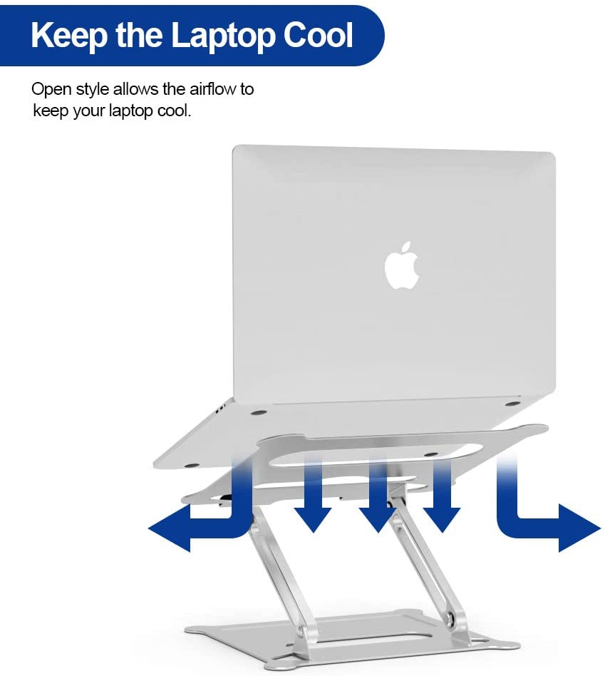 SafeStand - Aluminum Laptop Stand, Ergonomic Adjustable Notebook Stand