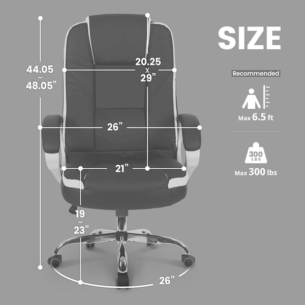 FurniBox High Back Chair Cushion Lumbar Support Computer Desk Chair
