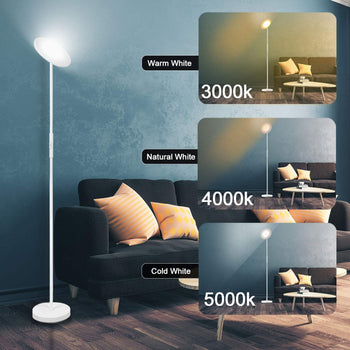 Officelux Floor Lamp LED Modern Standing Light 3 Color Temperatures