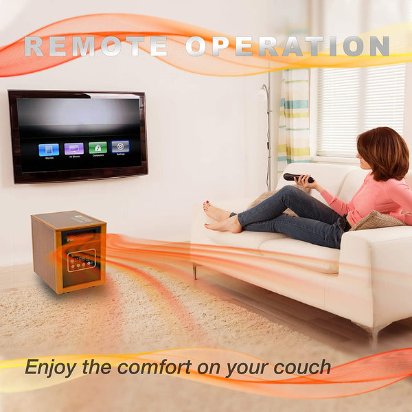 HOMEology Portable Electric Space Heater 1500-Watt with Remote Control