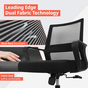FurniBox Office Ergonomic Chair Home Mesh Computer Seat Lumbar Support