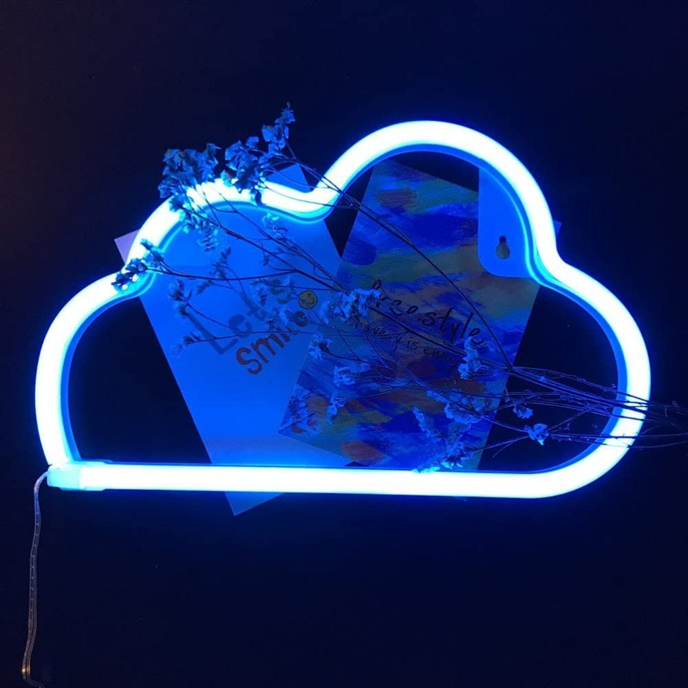 CuteCloud  - Led Neon Wall Light Battery or USB Operated Cloud Lamp
