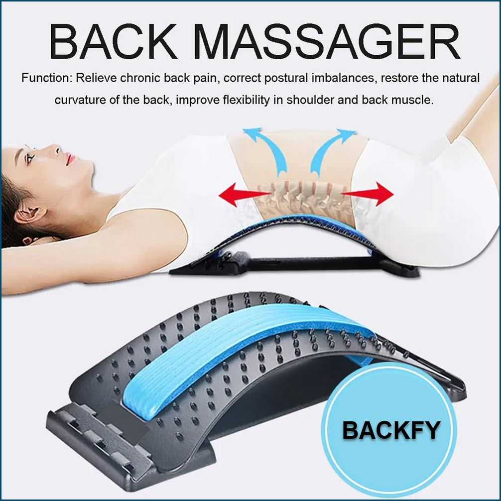 BACKFY - Back Stretcher Lumbar Support Acupressure Points Multi Level