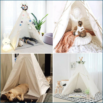 TEEPEE - 5ft Kids Play Tent Indian Boys Girls Playhut Indoor Outdoor