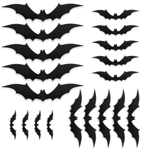 Halloween Bats - 28Pcs Set 3D Decoration DIY Scary Wall Decal Stickers